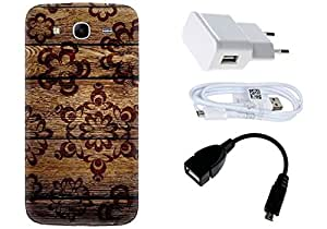 Spygen Samsung Galaxy Mega 5.8 i9150 Case Combo of Premium Quality Designer Printed 3D Lightweight Slim Matte Finish Hard Case Back Cover + Charger Adapter + High Speed Data Cable + Premium Quality OTG