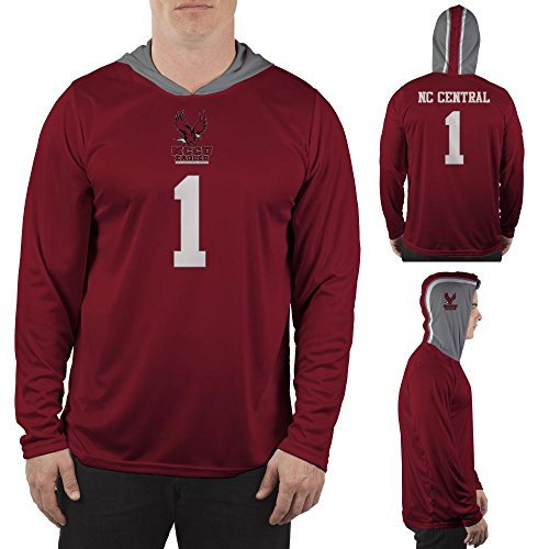 North Carolina Central University Eagles Hooded Long Sleeve Shirt Jersey Design (Medium) (North Carolina Central University compare prices)