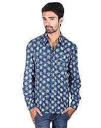 Rajrang Handmade Hand Block Printed Men's Shirt Size XXL