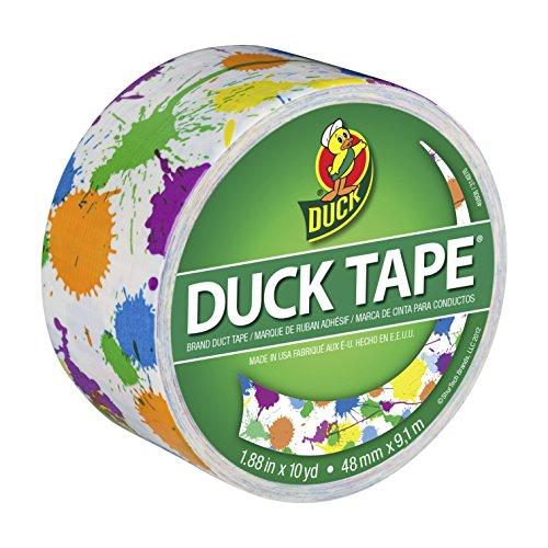 """Paint Splatter Patterned Duck Tape 1.88"""" Wide 10 Yard Roll PDT-80424"""
