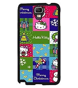 PRINTVISA The Embarasing Girl Premium Metallic Insert Back Case Cover for Samsung Galaxy Note 3 Neo - N7505 - D6098