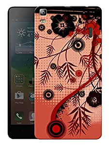 "Humor Gang Flowers And Branches Pattern Printed Designer Mobile Back Cover For ""Lenovo K3 Note - Lenovo A7000 - Lenovo A7000 Plus - Lenovo A7000 Turbo"" (3D, Matte, Premium Quality Snap On Case)"