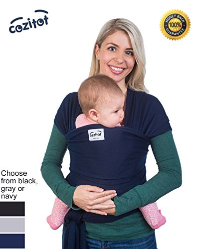 Best Prices! Navy Blue Baby Wrap Carrier Sling by Cozitot® | Soft and Stretchy Baby Carrier | Baby ...