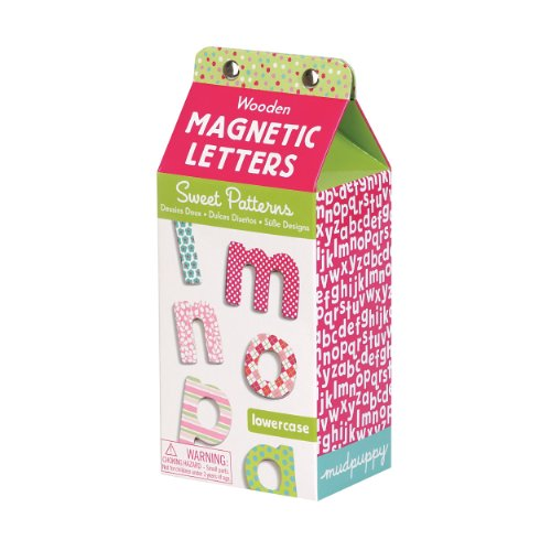 sweet patterns lowercase letters wooden magnetic set With mudpuppy magnetic letters
