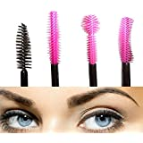 KINGLAKE®Fashion Brand New 60PCS Disposable Silicone and Nylon Eyelash Mascara Wands Brush Cosmetic Eyelash Extension Spoolies Applicators - Makeup Tool Kit