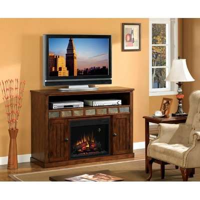 Advantage Sedona Fireplace in Carmel Oak with 23EF025GRA Electric Insert picture B006JOQPXW.jpg