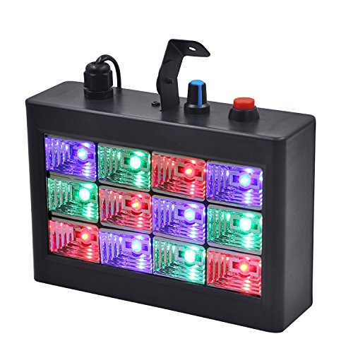 erligpowht voice activated rgb led strobe stage lights for disco party. Black Bedroom Furniture Sets. Home Design Ideas