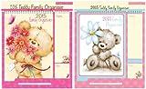 Tallon 0025 Teddy Family Calendar 2015 with Shopping List and Pen