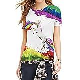 JIAYIQI[ジアイェッキー]夏用レディースファッション3Dフルプリント半袖Tシャツ