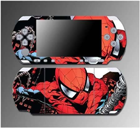 Spiderman Amazing Spider-Man Superhero Movie Game Vinyl Decal Sticker Cover Skin Protector #4 for Sony PSP Slim 3000 3001 3002 3003 3004 Playstation Portable