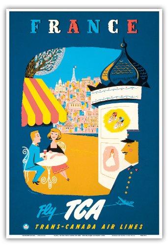 france-fly-tca-trans-canada-air-lines-vue-de-paris-vintage-airline-travel-poster-by-jacques-le-flagu