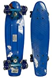 RETRO BOARDS Youth Blue LED Square Series Skateboards, Blue, 22