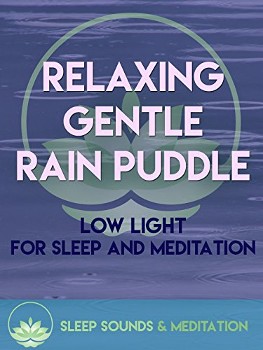 Relaxing Gentle Rain Puddle Low Light Sleep Sound & Meditation