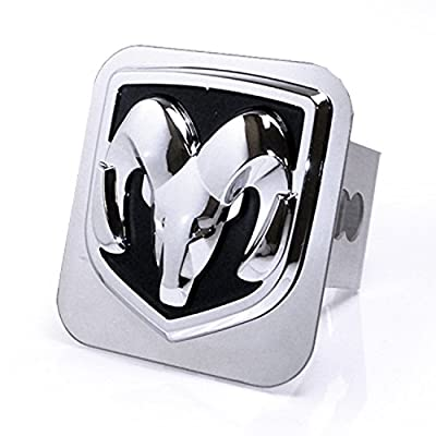 Dodge Chrome Logo Trailer Hitch Cover Plug