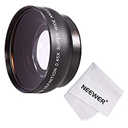 Neewer ' 52MM 0.45x Wide Angle Lens with Macro for NIKON DSLR Cameras, such as NIKON D7100 D7000 D5200 D5100 D5000 D3300 D3200 D3000 D90 D80 DSLR Cameras + Microfiber Cleaning Cloth