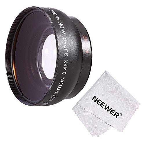 Neewer® 52MM 0.45x Professionelle HD-Weitwinkel-Objektiv (w / Makro Portion) für NIKON DSLR Kameras, wie NIKON D7100 D7000 D5200 D5100 D5000 D3300 D3200 D3000 D90 D80 DSLR Kameras + Mikrofaser Reinigungstuch