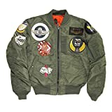 (アビレックス) AVIREX アヴィレックス トップガン MA-1 ボンバー ジャケット フライトジャケット メンズ M 73_Sage 6152164