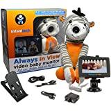 "Infanttech Always in View 4.3"" Video and Audio Baby Monitor (Zebra) - The Baby Monitor for Home, Cars and On the Go"