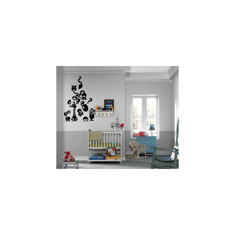 Little Monsters Children Million Questions Kids Room Wall Mural Vinyl Art Sticker M319