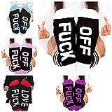 Socks Letter Print Fuck-off Pattern Casual Funny Sock Men Women Unisex by Fenta