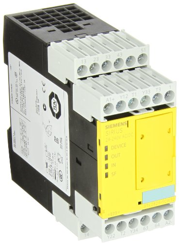 Siemens 3Tk28 26-1Cw30 Safety Relay, For Emergency Stop And Protective Doors, Selectable Parameters, Screw Terminals, 45Mm Width 45Mm Width, 24-240Vac/Vdc Rated Voltage