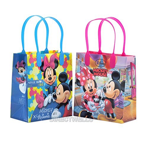 Cheap Disney Mickey and Minnie Mouse Reusable Premium Party Favor Goodie Small Gift Bags 12 (12 Bags...
