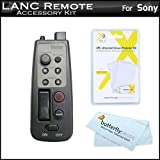 8 Function LANC Remote Control for Sony HDR series Camcorder (Replaces Sony RM-1BP RM1BP) + LCD Screen protectors + Cleaning Cloth