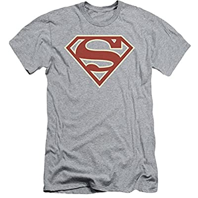 Superman: Cream & Crimson Shield Slim Fit T-Shirt