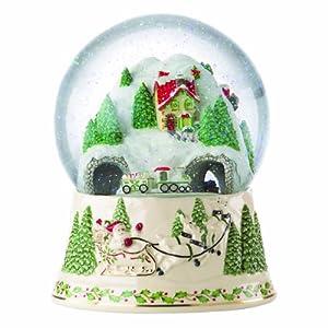 Lenox Holiday North Pole Musical Snow Globe