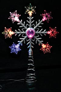 Christmas Tree Topper Lighted Snowflake LED Color Changing Snowflakes