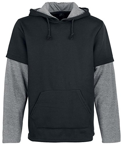 Forplay Two in One Sleeve Hoody Felpa con cappuccio nero S