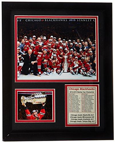 """NHL Chicago Blackhawks Legends Never Die Framed Photo Collage, Celebration, 11"""" x 14"""""""