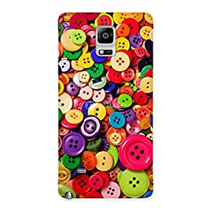 Special Button Lot Print Back Case Cover for Galaxy Note 4