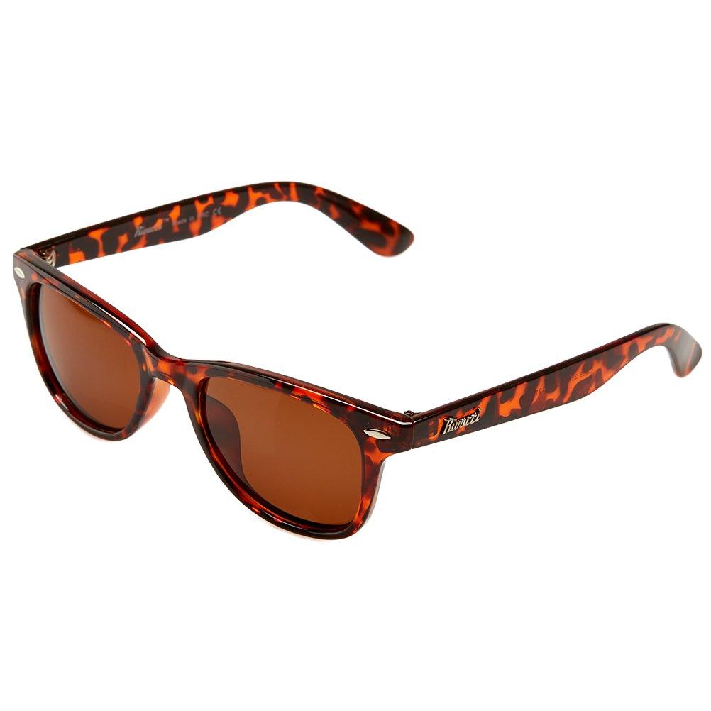 6dbc8284e Rivacci Unisex's Wayfarer Black Frame / Blue Mirror Lens Medium 49mm  Polarized Sunglasses