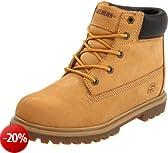 Skechers Mecca Lumberjack 93151L, Stivali ragazzo, Marrone (Braun/WTN), 28