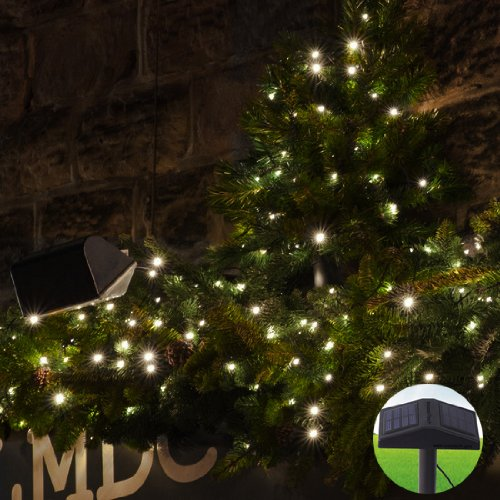 Innoo Tech 73Feet 220 Led Solar Outdoor Fairy String Light Decorative Christmas Tree Garden Party-Warm White Patio Lights