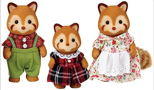 Sylvanian Families - Red Panda Family - Epoch Bx-a5-6-t48 by Epoch