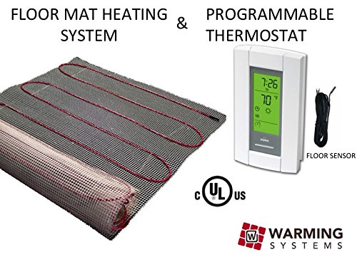 50 Sqft Mat, Electric Radiant Floor Heat Heating System with Aube Digital Floor Sensing Thermostat (Radiant In Floor Heating compare prices)