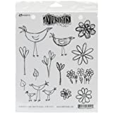 Dylusions Stamps Rubber How Does Your Garden Grow Cling Stamps, Multi-Colour