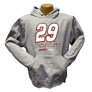#29 Kevin Harvick Budweiser Grey Fan Hooded Sweatshirt -96529 by Brickels