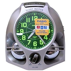 CASIO 10774 TQ-641-9S - Reloj Despertador analógico gris de CASIO