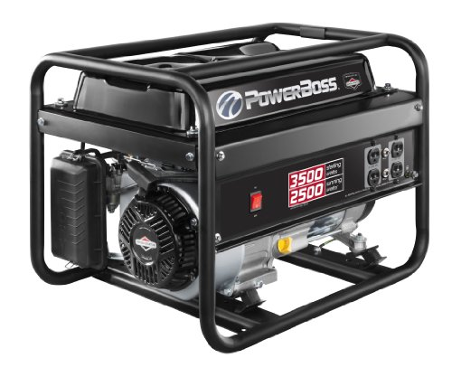 Powerboss 30628 2500-Watt Gas Powered Portable Generator With 900 Powerbuilt Ohv 196Cc Engine And Low Oil Shutdown