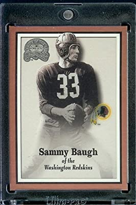 2000 Fleer Greats of the Game Football Card # 56 Sammy Baugh Washington Redskins Mint Condition - Shipped In Protective ScrewDown Case!