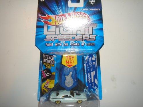 2012 Hot Wheels Light Speeders '71 Dodge Challenger White