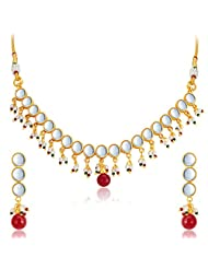 Sukkhi Stunning Gold Plated Kundan Necklace Set For Women