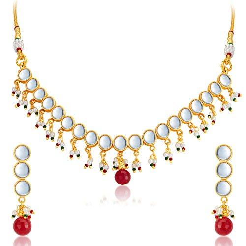 Sukkhi Stunning Gold Plated Kundan Necklace Set For Women
