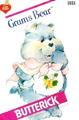 butterick-6933-care-bears-carebears-grams-bear-sewing-pattern-stuffed-toy-teddy-bear-by-care-bears