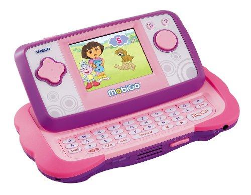 VTECH 80-115854 - MobiGo Lernkonsole TFT-Touch Display pink inklusiv Lernspiel Dora
