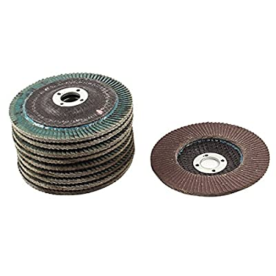 Uxcell 240# Polishing Flap Sanding Abrasive Wheels Disc (10 Piece), 100mm