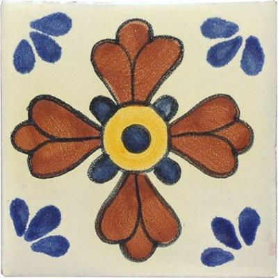 4x4 Blue Seville - Talavera Mexican Tile